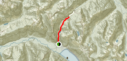 Lindeman and Greendrop Lakes Trail Map