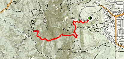 Bear Canyon Trail to Bear Peak Map