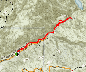 Big Dalton Dam Trail Map