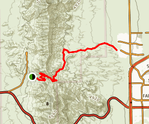 Trans Franklin Mountain Trail Map