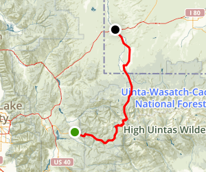 Mirror Lake Scenic Byway: Kamas to the Wyoming Line Map
