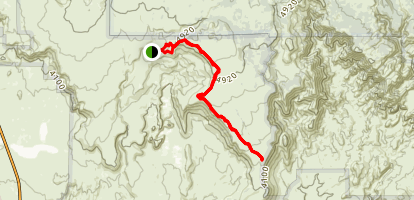 Broken Mesa Rim Trail Map