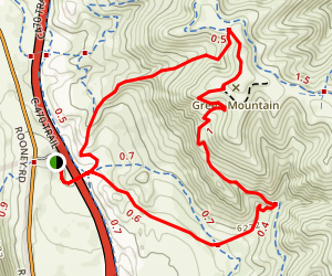 Rooney Valley Trail/Green Mountain Trail Loop Map