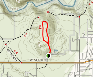 East Cinder Knoll Trail Map