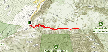 Sliding Sands Trail Map