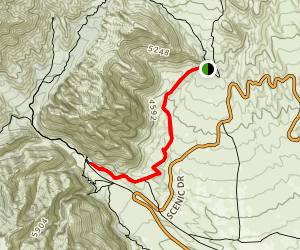 White Rock Spring to Willow Spring Trail Map