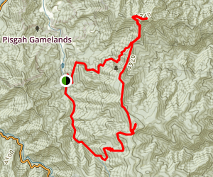 Daniel Boone Scout Camp Cold Mountain Loop Trail Map