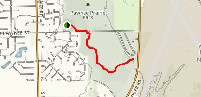 Pawnee Prairie Park Trail Map