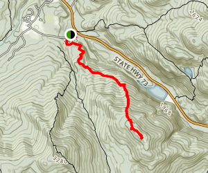 Weston Trail to Round Mountain Map