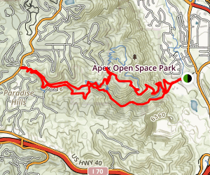 Apex Park Enchanted Forest Trail Map