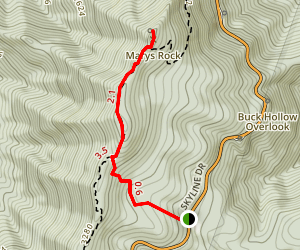 Mary's Rock South Trail Map