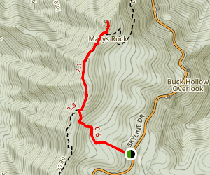 Mary's Rock via the Appalachian Trail (Southern Approach) Map