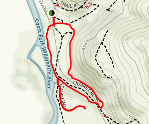 Buford Park Arboretum Loop Map