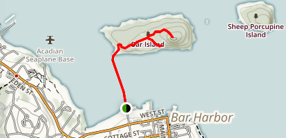 Bar Island Trail Map