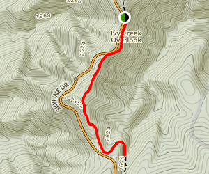 Ivy Creek via Applachian Trail Map