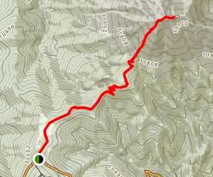 West Spanish Peak Trail Map