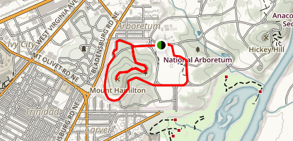 National Arboretum: West Side Map