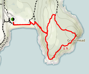 Great Head Trail Map