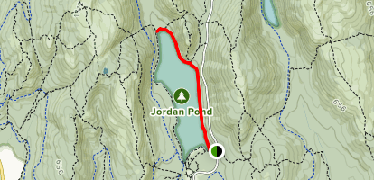 Jordan Pond East Side Trail Map