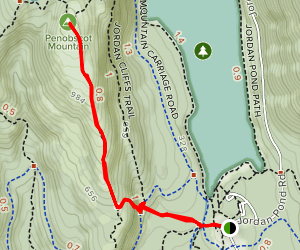 Penobscot Mountain Trail Map