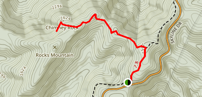 Calvary and Chimney Rocks Trail Map