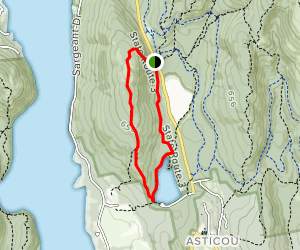 Norumbega Mountain and Hadlock Ponds Loop Trail Map