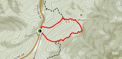 Loft Mountain Loop via Appalachian Trail Map