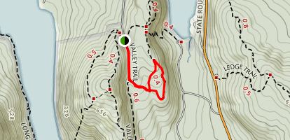 Valley Trail to Canada Cliff Trail Map