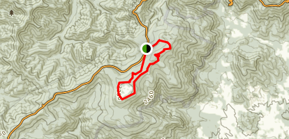 Big Flat Mountain Loop Trail Map