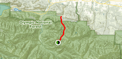 Hurricane Hill Nature Trail to Little River Trail Map