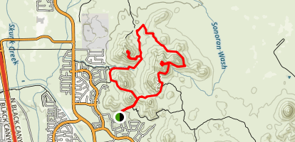 Dixie Mountain Loop with Two Summits Map
