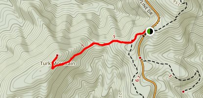 Turk Mountain Trail Map