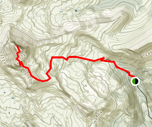Uncompahgre Peak Trail Map