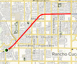 Pacific Electric Trail through Cucamonga Map