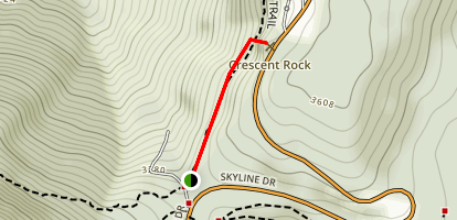Crescent Rock Trail Map