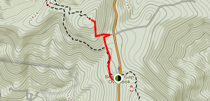 Byrds Nest Summit and Byrds Nest Shelter No. 4 Trail Map