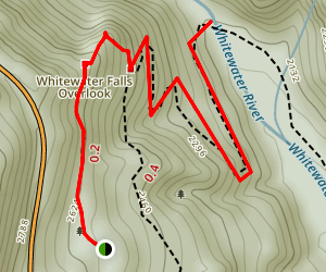 Upper Whitewater Falls Trail Map