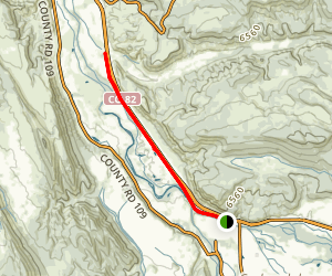 Carbondale Camprground to Roaring Fork River Map