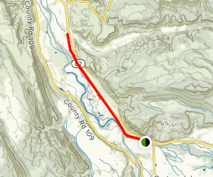 Rio Grande Trail: Carbondale Camprground to Roaring Fork River Map
