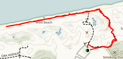 Dune Succession and West Beach Trail Map
