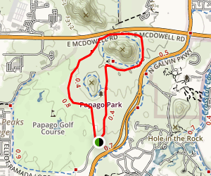 Double Butte Loop Trail Map