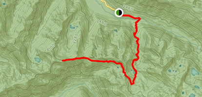 Deer Lake Cutoff Trail Map