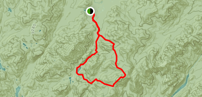Avalanche Lake Mount Marcy Loop Trail Map