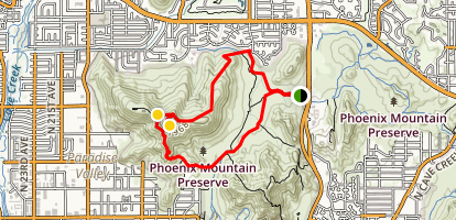 Shaw Butte and Charles M Christiansen Loop Trail  Map