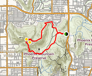 Shaw butte and charles m christiansen loop trail arizona maps shaw butte and charles m christiansen loop trail map sciox Choice Image