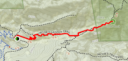 Jacob's Ladder to Lone Rock Map