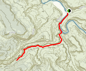 Big Dominguez Canyon  Map