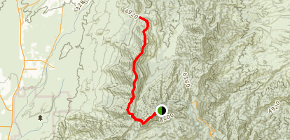 Samaniego Ridge Seven Trail Map