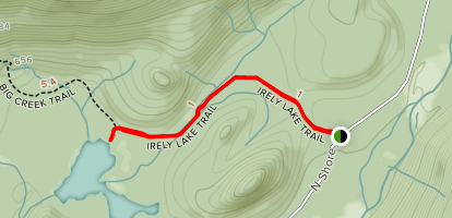 Irely Lake Trail Map