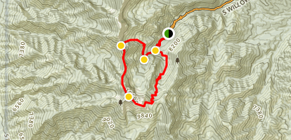 Deseret Peak Wildeness Loop Map